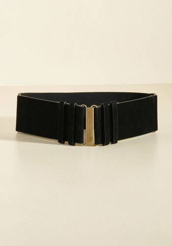 Chic Completion Belt - Black, Solid, Party, Work, Casual, Statement, Winter, Better