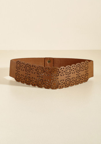 Punctual Perforations Belt - Brown, Tan, Casual, Daytime Party, Boho, Rustic, Winter, Better, Statement