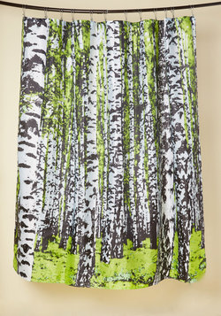 Beyond the Grove Shower Curtain in Spring Birch