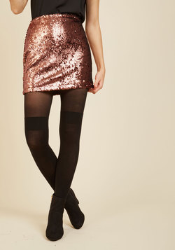Shimmer Fling Mini Skirt