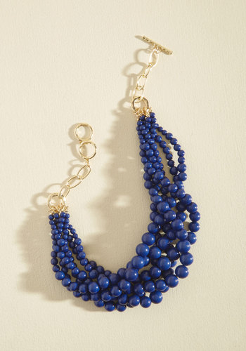 Burst Your Bauble Necklace in Cobalt - Stocking Stuffers, Under 25 Gifts, Unique Gifts, Blue, Work, Statement, Gold, Tis the Season Sale