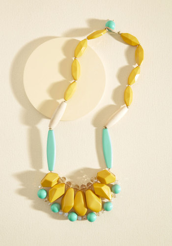 Eclectic Effect Necklace - Yellow, Multi, Beads, Party, Daytime Party, Statement, Quirky, Winter, Better