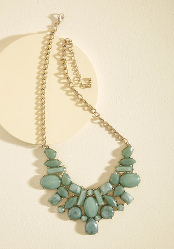 Statement Your Business Necklace in Sage