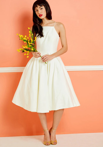Beloved and Beyond Midi Dress in Ivory