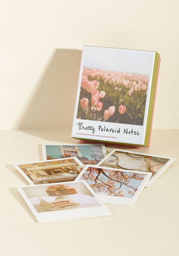 Worth a Thousand Words Notecard Set by Chronicle Books - Pink, Multi, Green, Multi, Floral, Daytime Party, Boho, Vintage Inspired, 40s, 50s, 60s, 70s, 80s, Handmade & DIY, Statement, Quirky, Nature, Gals, Under $20