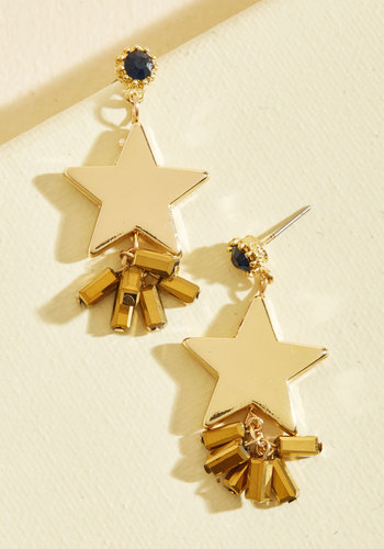 Star Me Up Earrings - Cosmic Gifts, Under 50 Gifts, Under 25 Gifts, Unique Gifts, Gold, Gold, Solid, Party, Cocktail, Cosmic, Winter, Good
