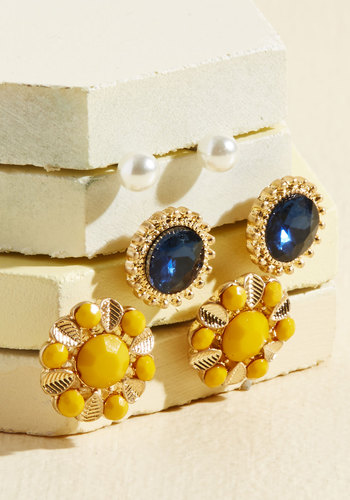 1960s Costume Jewelry – 1960s Style Jewelry A Set Of Gratitude Earrings $19.99 AT vintagedancer.com