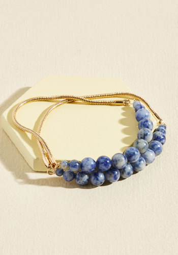 Style to Pair Bracelet Set - Cosmic Gifts, Under 50 Gifts, Under 25 Gifts, Gold, Blue, Gold, Casual, Minimal