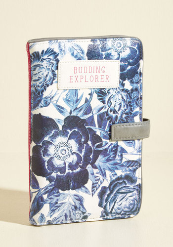 Organized to Beautify Travel Wallet by Disaster Designs - Stocking Stuffers, Blue, Grey, White, Floral, Travel, Sayings