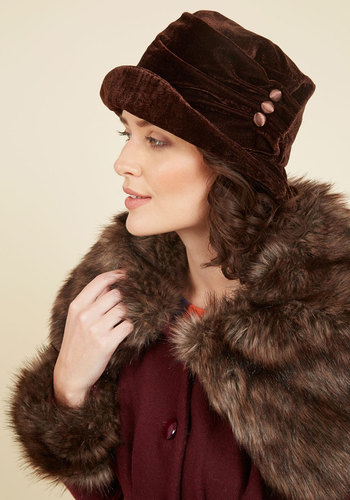 1920s Hat Styles for Women- History Beyond the Cloche Hat Velvet Hat $29.99 AT vintagedancer.com
