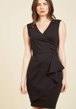 Public Speaking Highly of You Sheath Dress in Black