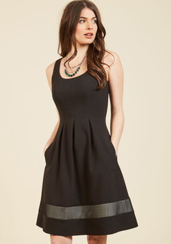 Approaching the Edgy A-Line Dress