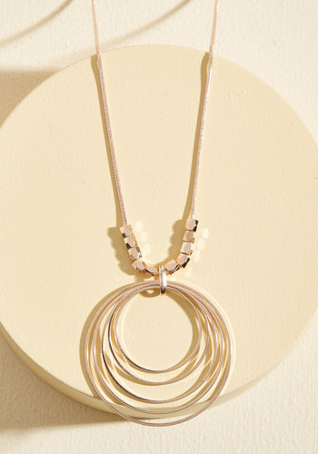 Has Nice Rings to It Necklace - Gold, Beads, Party, Work, Cocktail, Winter, Gold, Good, Rose Gold