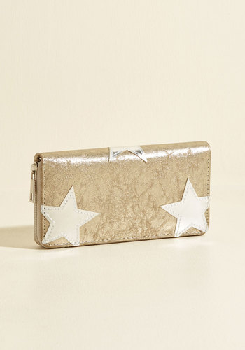 Star You Ready for This? Wallet - Silver, Gold, Patch, Party, Work, Casual, Cosmic, Winter, Better, Sparkly2015, Cosmic Gifts, Under 25 Gifts, Store 1