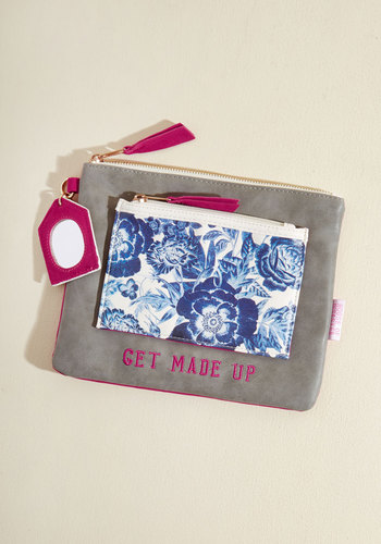 Organized to Beautify Makeup Bag by Disaster Designs - Multi, Floral, Work, Casual, Winter, Better, Grey, Blue, Travel