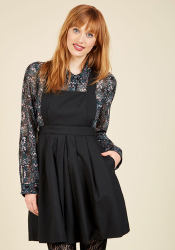 1950s Style Dresses Bicycle Built for Cute Jumper in Licorice $49.99 AT vintagedancer.com