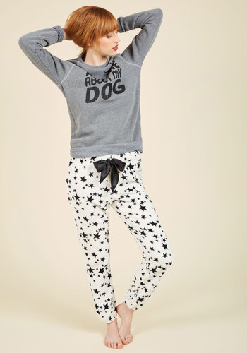 Dreamy By Design Sleep Pants - White, Black, Novelty Print, Print, Lounge, Better, Cosmic Gifts, Under 50 Gifts