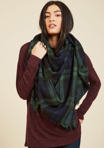 Willamette for the Weekend Scarf in Forest - Green, Plaid, Work, Casual, Rustic, Winter, Better, Tis the Season Sale