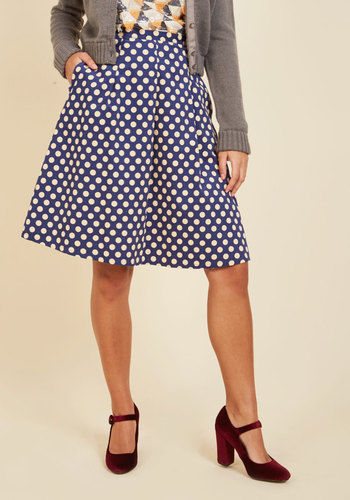 1940s Style Skirts Museum Muse A-Line Skirt $49.99 AT vintagedancer.com