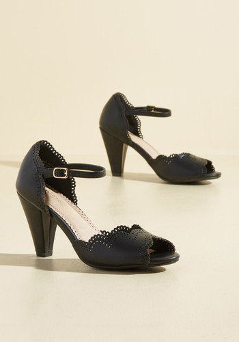 Retro & Vintage Style Shoes When Life Gives You Lessons Heel in Black $69.99 AT vintagedancer.com
