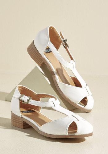 Vintage Style Sandals – 1930s, 1940s, 1950s, 1960s Another of Lifes Gait Mysteries Vegan Flat $44.99 AT vintagedancer.com
