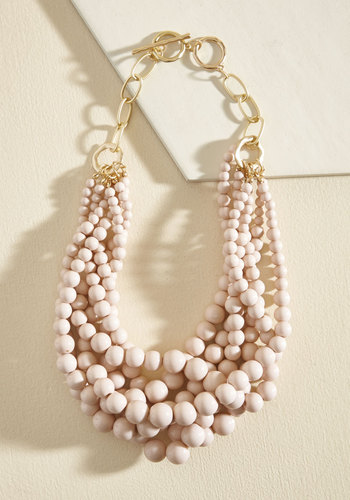 Burst Your Bauble Necklace in Petal - Stocking Stuffers, Under 25 Gifts, Unique Gifts, Gold, Pink, Blush, Work, Casual, Statement, Exclusives