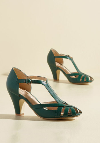 Retro & Vintage Style Shoes The Chosen Few Heel in Forest $69.99 AT vintagedancer.com