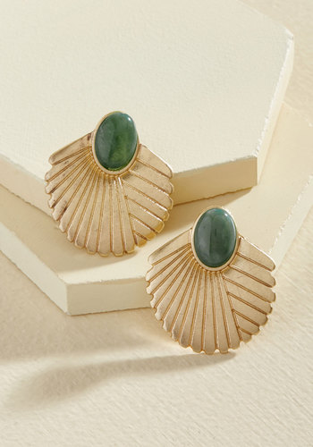 1930s Costume Jewelry The Best I Fan Do Earrings $14.99 AT vintagedancer.com