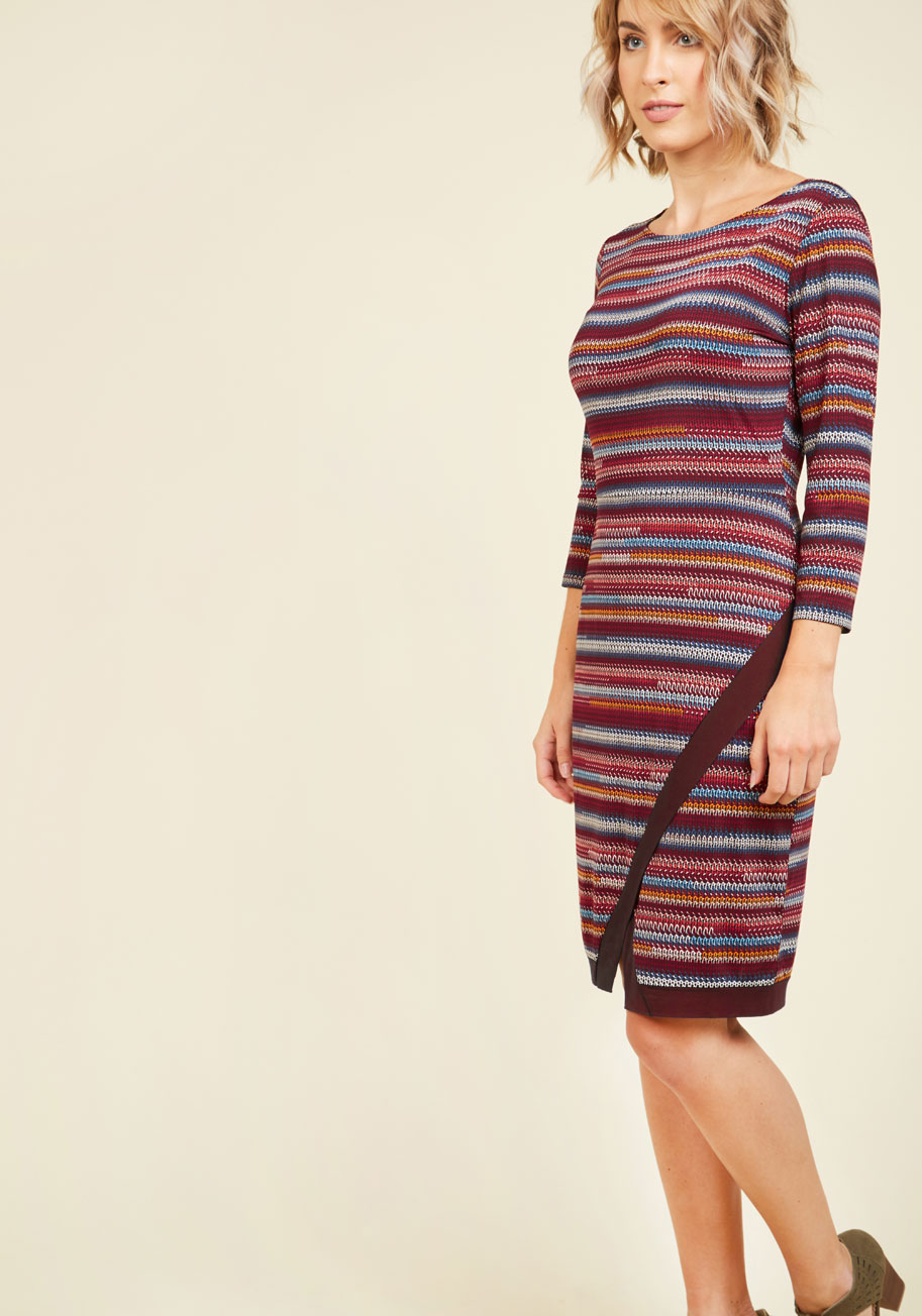 Bestowed With Composure Striped Dress