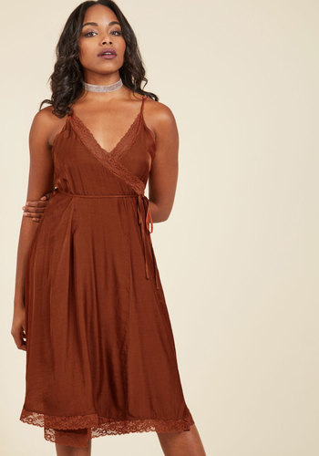 Embodiment of Effortless Wrap Dress
