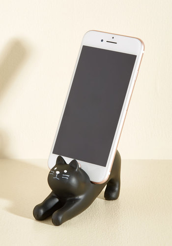 You've Gato a Call Phone Stand - Black, Print with Animals, Cats, Best Seller, Best Seller, Good, Halloween, Graduation, Critters, 4th of July Sale, Top Rated, Quirky, Critter Gifts, Under 25 Gifts, Unique Gifts