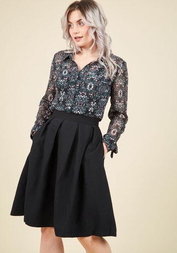 1940s Style Skirts Imperative Narrative Midi Skirt $59.99 AT vintagedancer.com