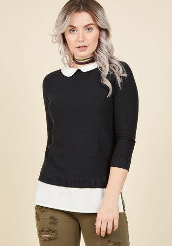 Retro Vintage Sweaters Classroom Charisma Sweater in Black $49.99 AT vintagedancer.com