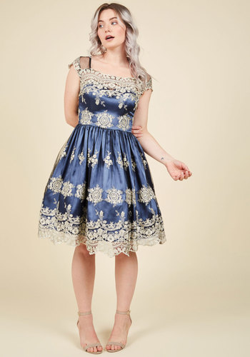 1950s Plus Size Dresses Fanciful Finesse Fit and Flare Dress $149.99 AT vintagedancer.com