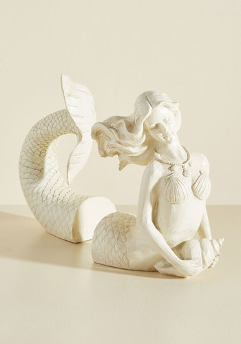 Mermaid for Each Other Bookends - Cream, Nautical, Vintage Inspired, Better, Summer, Graduation, Under 50 Gifts, Unique Gifts