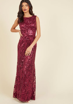 Seen in Sequins Maxi Dress