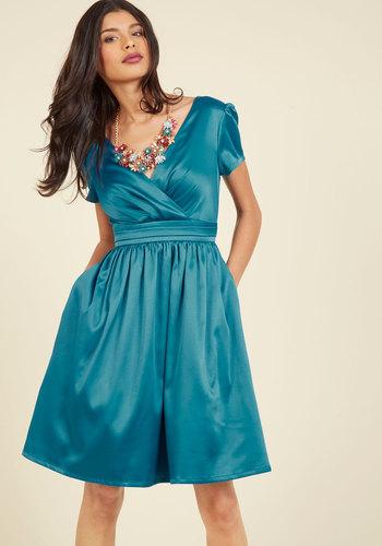 1950s Style Dresses A Pleasing Evening A-Line Dress $119.99 AT vintagedancer.com