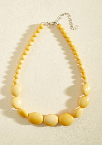 1960s Costume Jewelry – 1960s Style Jewelry Bright and Baubly Necklace in Mustard $19.99 AT vintagedancer.com