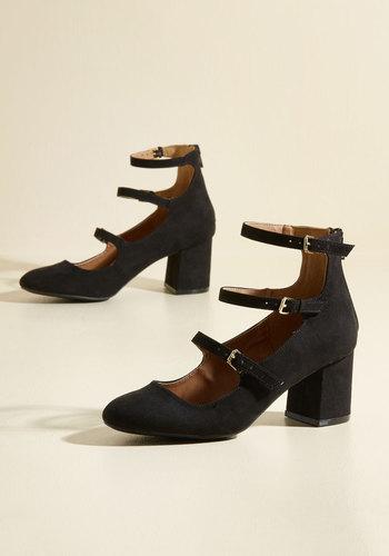 Edwardian Shoes Straps Perhaps Heel in Black $39.99 AT vintagedancer.com