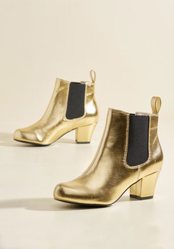 Lover of Luster Metallic Bootie in Gold
