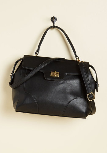 A Bit of Carryall Right Bag - Black, Solid, Work, Casual, Winter, Faux Leather, Good