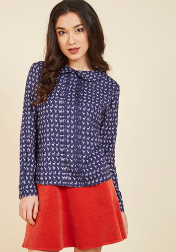 1930s Style Tops, Blouses & Sweaters Quick and Quirky Top $49.99 AT vintagedancer.com