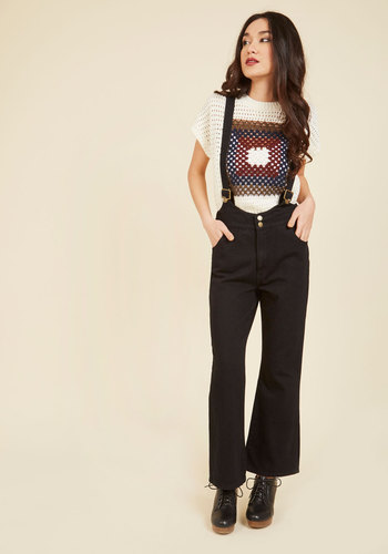 1950s Style Pants Readily Retro Overalls $129.99 AT vintagedancer.com