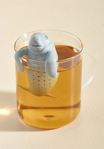 Sea for Two Tea Infuser by Fred - Grey, Solid, Print with Animals, Kawaii, Good, Best Seller, Critters, WPI, Under $20, Summer, Top Rated, Quirky, Gifts2015, Store 2, Critter Gifts, Under 25 Gifts, Tis the Season Sale, Best Seller