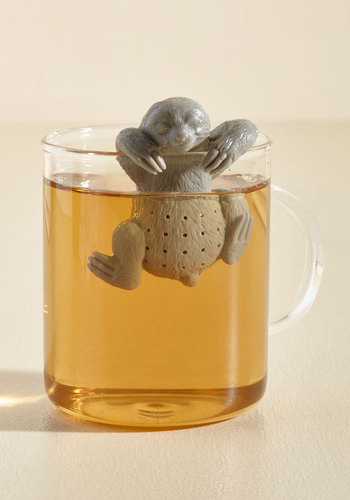 You Snooze, You Brew Tea Infuser by Fred - Grey, Critters, Good, Fall, Quirky, Best Seller, Best Seller, Store 2, Critter Gifts, Under 25 Gifts