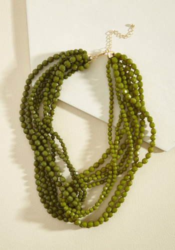 1960s Costume Jewelry – 1960s Style Jewelry Merging of Moxie Necklace in Fern $24.99 AT vintagedancer.com