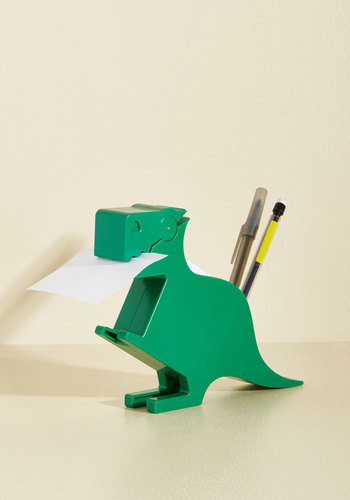 Memo-saurus Desk Organizer by Kikkerland - Green, Solid, Quirky, Good, Under $20, Nifty Nerd, Work, Colorsplash