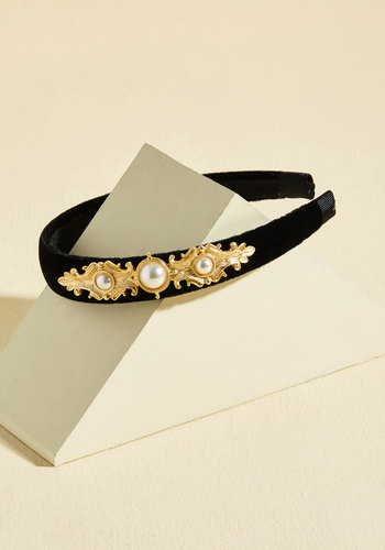 Exquisite for the Best? Velvet Headband - Stocking Stuffers, Under 50 Gifts, Under 25 Gifts, Unique Gifts, Sparkly2015, Black, White, Gold, Pearls, Party, Vintage Inspired, 20s, Winter, Velvet, Good