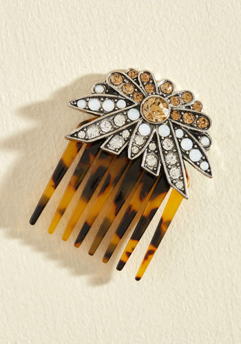 Truth or Moderne Hair Comb - Multi, Gold, Rhinestones, Casual, Bride, Winter, Gold, Good, Under $20, Sparkly2015, Party
