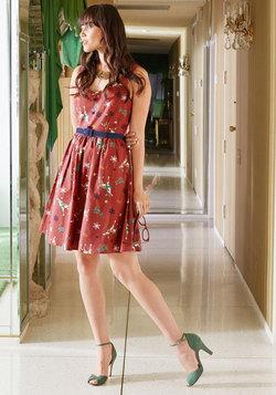 Cheerful Caroling Cotton Dress